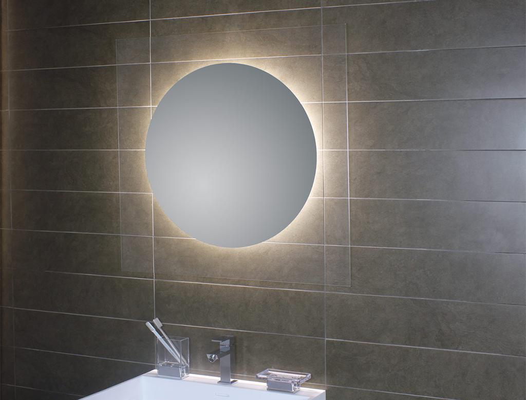 Koh i noor geometrie specchio tondo 80 con illuminazione for Specchio bagno koh i noor