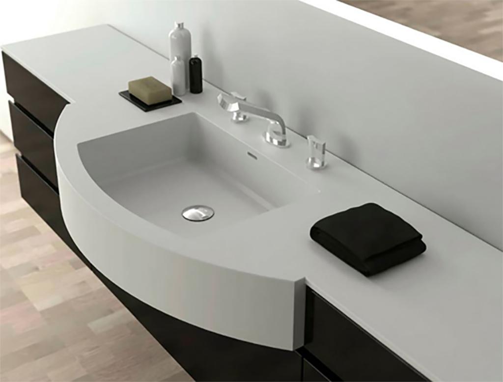 Piano Lavabo In Corian moma design regular pro lavabo da incasso