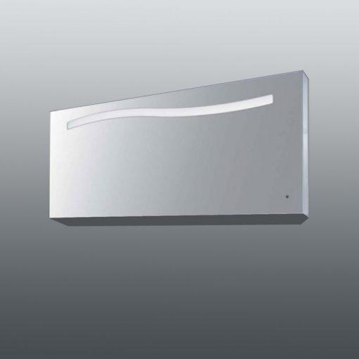 Colombo design specchio a filo lucido con decoro onda e - Home design decoro shopping ...