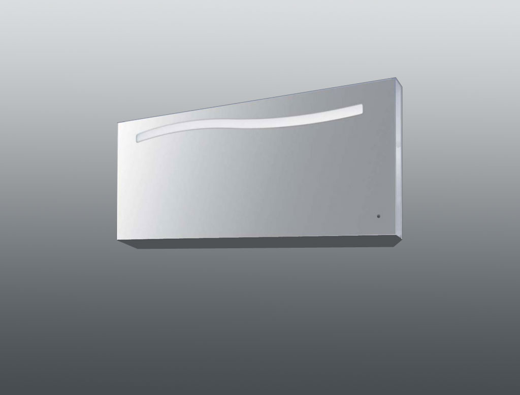 Colombo design specchio a filo lucido con decoro onda e for Home design e decoro