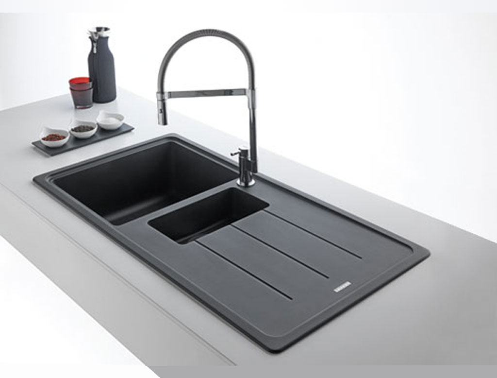 Franke boston lavello vasca singola l970 con sgocciolatoio therapy 4 home - Lavelli da cucina in fragranite ...