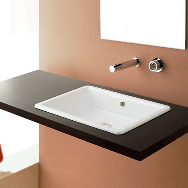 Scarabeo ceramiche gaia lavabo da incasso therapy4home - Lavabi bagno da incasso ...