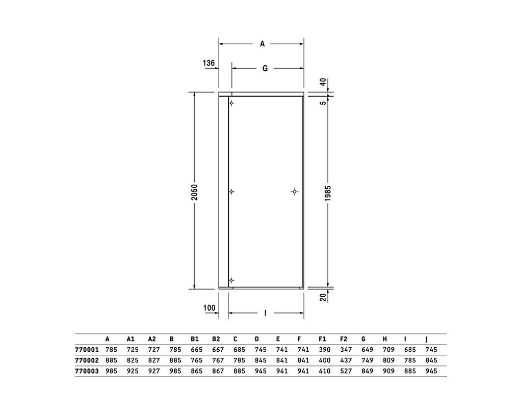 Scheda Tecnica Cabina Doccia.Duravit Openspace Cabina Doccia Quadrata Richiudibile