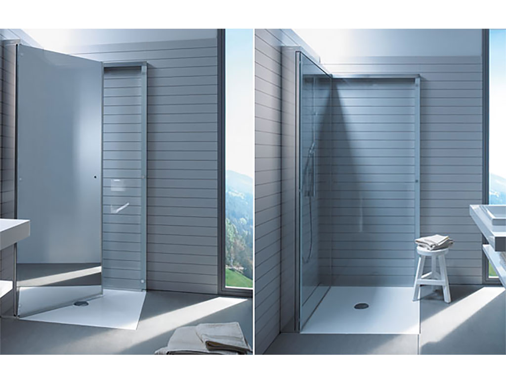Duravit openspace cabina doccia quadrata richiudibile therapy home