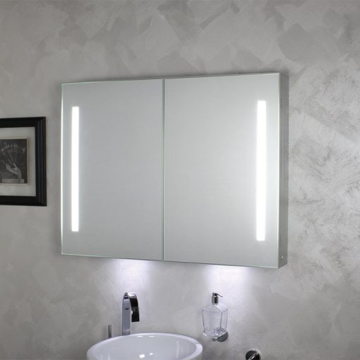 Koh i noor riflessi specchio contenitore anta doppia con - Specchio con illuminazione led ...