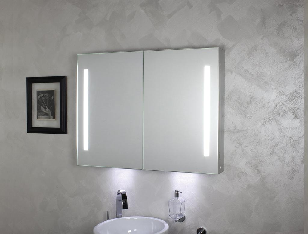 Koh i noor riflessi specchio contenitore anta doppia con for Specchio bagno koh i noor