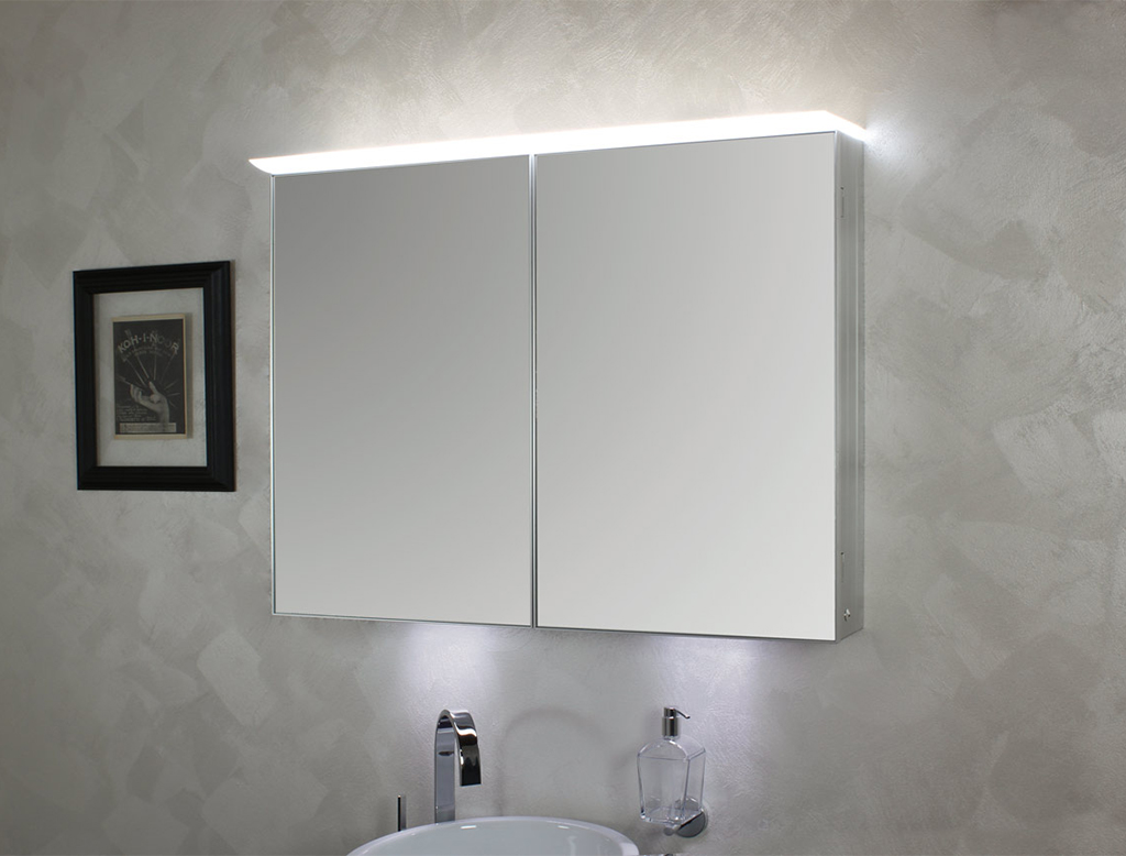 Koh i noor top specchio contenitore anta doppia con for Specchio bagno koh i noor
