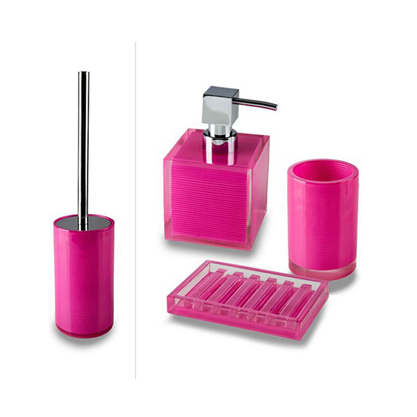 Cip billy set bagno da appoggio pink - Set accessori bagno da appoggio ...