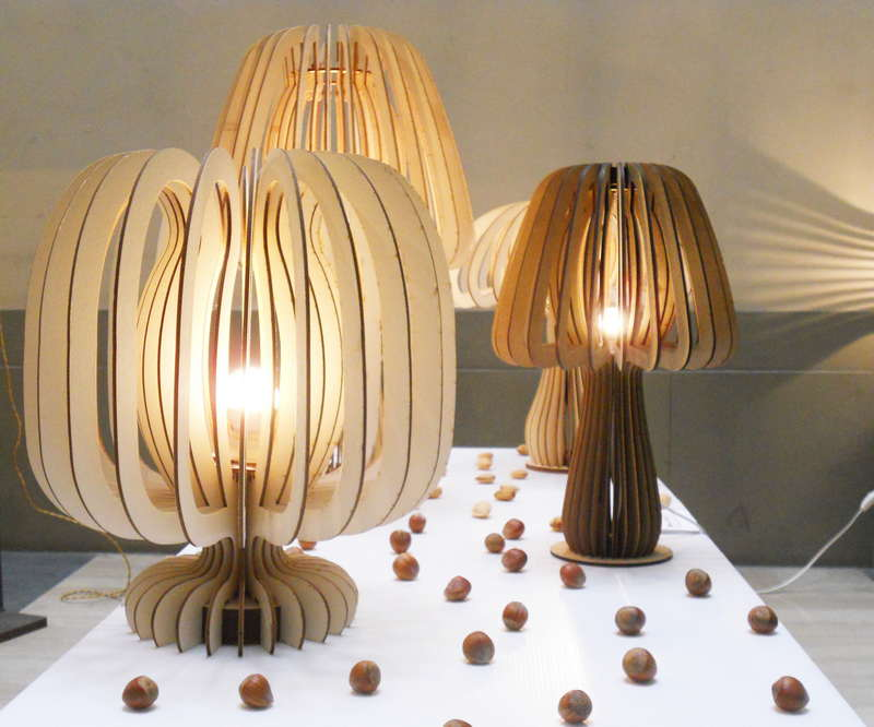 Brise lamps mushroom brise for Lampade in legno design