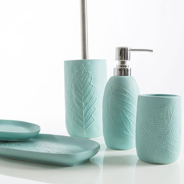 Cip tiffany leaves set bagno da appoggio therapy4home - Zara home accessori bagno ...